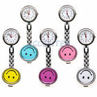 Smiley Face Quartz Fob Nurses Watch Yellow Blue Purple Pink White Nurse Watches