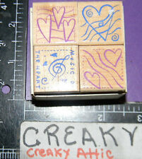 MUSIC OF THE HEART 4 RUBBER STAMPS HERO ARTS LL576 CLEF