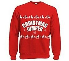 UNISEX Christmas Xmas Jumper  Novelty Santa fancy dress sweater  X large size