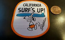"Snoopy peanuts California  Surf's Up sew on patch Never used 2.5"" x 2.5"""