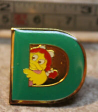 McDonalds Birdie Early Letter D Alphabet Collectible Pinback Pin Button 2000
