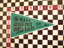 Isle Of Man TT 1964 Pennant Sticker Norton Royal Enfield Honda BSA Triumph