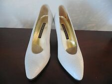 WALTER STEIGER Vintage Womens Shoes Ivory Leather(like snake) Handmade in ITALY.