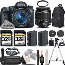 Canon EOS 7D Mark II DSLR Camera + 18-55mm IS STM + BATT GRIP + EXT BATT + 64GB