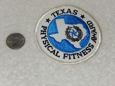 Vintage Texas Physical Fitness Award Patch