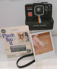 Polaroid SX-70 Rainbow Time-Zero OneStep Instant Camera +New Flashbar TESTED