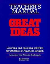 Great Ideas Teacher's manual: Listening and Speaking Activities for Students of