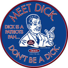 Buffalo Bills Fans. Don't Be A Dick (Anti-Patriots) Embossed Metal Fan Cave Sign