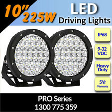 "LED Driving Lights 10"" 225w  Heavy Duty PRO Series CREE 12/24v ""Fantastic"""