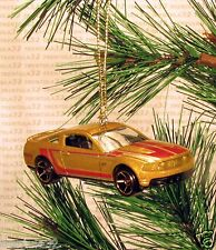 2010 FORD MUSTANG GT CHRISTMAS ORNAMENT Gold/Red rare XMAS