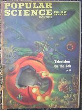 Feb. 1947 Popular Science Monthly - Television On the Job (Underwater) Cover