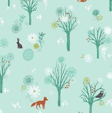 Dashwood Studio Blue Wildwood Fox Woodland 100% Cotton Fabrics FQ Quilting