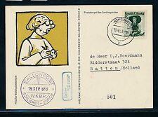 60085) Ballonpost FDA Fred Dolder Schlieren - Hohenweiler 19.9.53   Niederlande