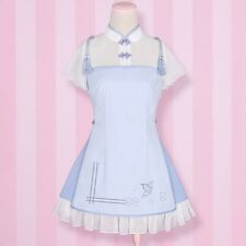 Qipao Cheongsam Lolita Girls Vintage Dress Chiffon Summer Tassel Dress Chinese
