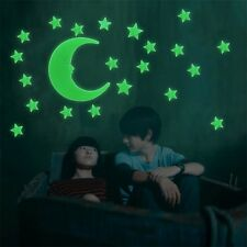 Stars Moon Glow In The Dark Fluorescent Decal Wall Stickers Home Decoration YL