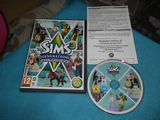 THE SIMS 3 GENERATIONS EXPANSION PACK PC/MAC-DVD V.G.C. FAST POST COMPLETE