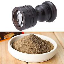 Black Practical Pepper Spice Mill Grinder Portable Kitchen Muller Tool Gadget