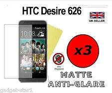3x HQ MATTE ANTI GLARE SCREEN PROTECTOR COVER FILM GUARD FOR HTC DESIRE 626