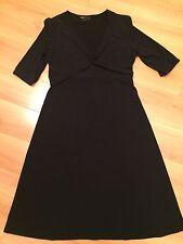 BCBG Max Azra Black Short Sleeve Dress Size L