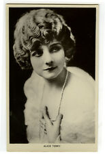 1920's Vintage Film Movie Star ALICE TERRY British photo postcard