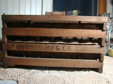 ANTIQUE WOOD CHICKEN EGG CRATE Owosso MI Benton AR OWOSSO Mfg Co.