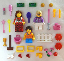 3 NEW LEGO FEMALE MINIFIG LOT girl friends women ladies figures minifigures