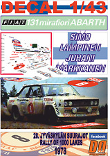 DECAL 1/43 FIAT 131 ABARTH SIMO LAMPINEN 1000 LAKES R. 1978 5th (01)