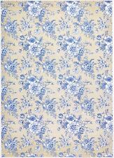 Rice Paper for Decoupage Decopatch Scrapbook Craft Sheet Blue Roses Wallpaper