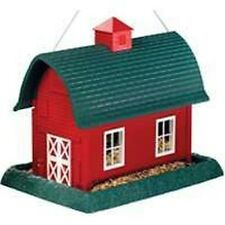 NEW 9061 LARGE RED GREEN BARN HANGING BIRD FEEDER SALE NEW SALE 6990865