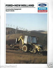 Equipment Brochure - Ford New Holland Tractor Loader Backhoe Skid-Steer (E2997)