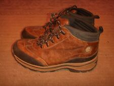 Timberland Leather Hiking Boots Brown Boys Size 4