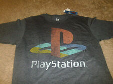 Playstation Mens SK Video Games Vintage Gray T-Shirt  Size Medium M