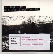 (CM485) Last Night's TV, No Tinsel On The Town Hall - 2011 DJ CD