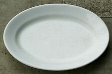 "Baker & Chetwynd White English Ironstone China Thick 19"" Oval Platter 1869-1875"