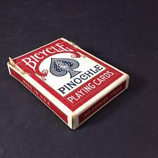 Vintage Bicycle 48 Pinochle Playing Cards red from 1938 complete open deck