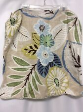 "Pillow Covers Set Of 2 Handmade 20"" Large Floral Tan Blue Brown NICE#1"