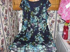WOMENS DRESS SIZE 22W 1X 2X NAVY BLUE CROCHET  DRESS RETAIL $80.00 NEW WITH TAGS