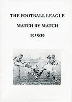 The Football League Match by Match 1938/39 Season Complete Statistics book
