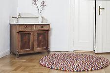 myfelt Lotte 160 cm Design Teppich 100% Wolle Filzkugelteppich Kinder-Teppich