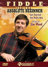 Fiddle for Absolute Beginner Violin Lessons Learn to Play Homespun Video DVD NEW