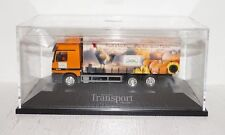 Herpa MB Actros L Gardinenplanen-LKW Transport Magazin 1:87 in PC und OVP