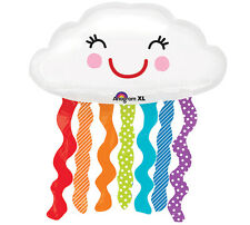 "XL 30""  Anagram Rainbow Cloud Super Shape Mylar Foil Balloon Birthday Party"