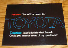 Original 1973 Toyota Full Line Sales Brochure 73 Land Cruiser Mark II