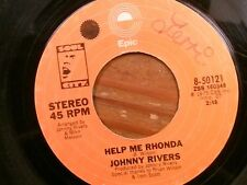 "JOHNNY RIVERS 45 RPM ""Help Me Rhonda"" & ""New Lovers and Old Friends"" VG- cond."