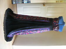 Monsoon S 14 BLACK RED BLUE MAXI Evening WEDDING Party CRUISE Holiday Dress