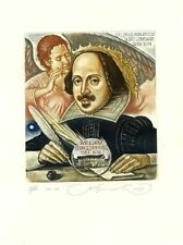 Hommage a Shakespeare, Bodio Lomnago Library, Italy,  Ex libris by S. Kirnitskiy