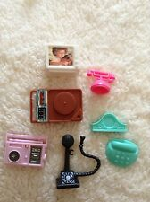 Barbie Doll Sized Electronic Lot Radios Record Player Telephone Tv Clock