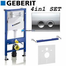 Geberit Duofix WC toilette citerne cadre avec plaque delta chrome & crochets & mat