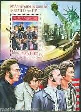 MOZAMBIQUE 50th ANNIVERSARY OF THE BEATLES IN THE USA SOUVENIR SHEET MINT NH