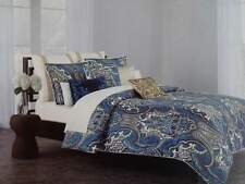 NIP Cynthia Rowley Blue/Teal/Yellow/White Paisley King Duvet Cover Set 3pc